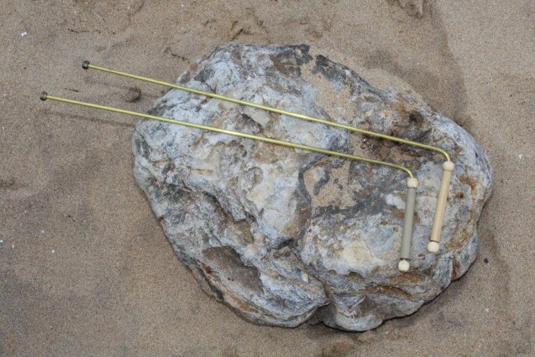 Baguettes de sourcier en bronze 40cm