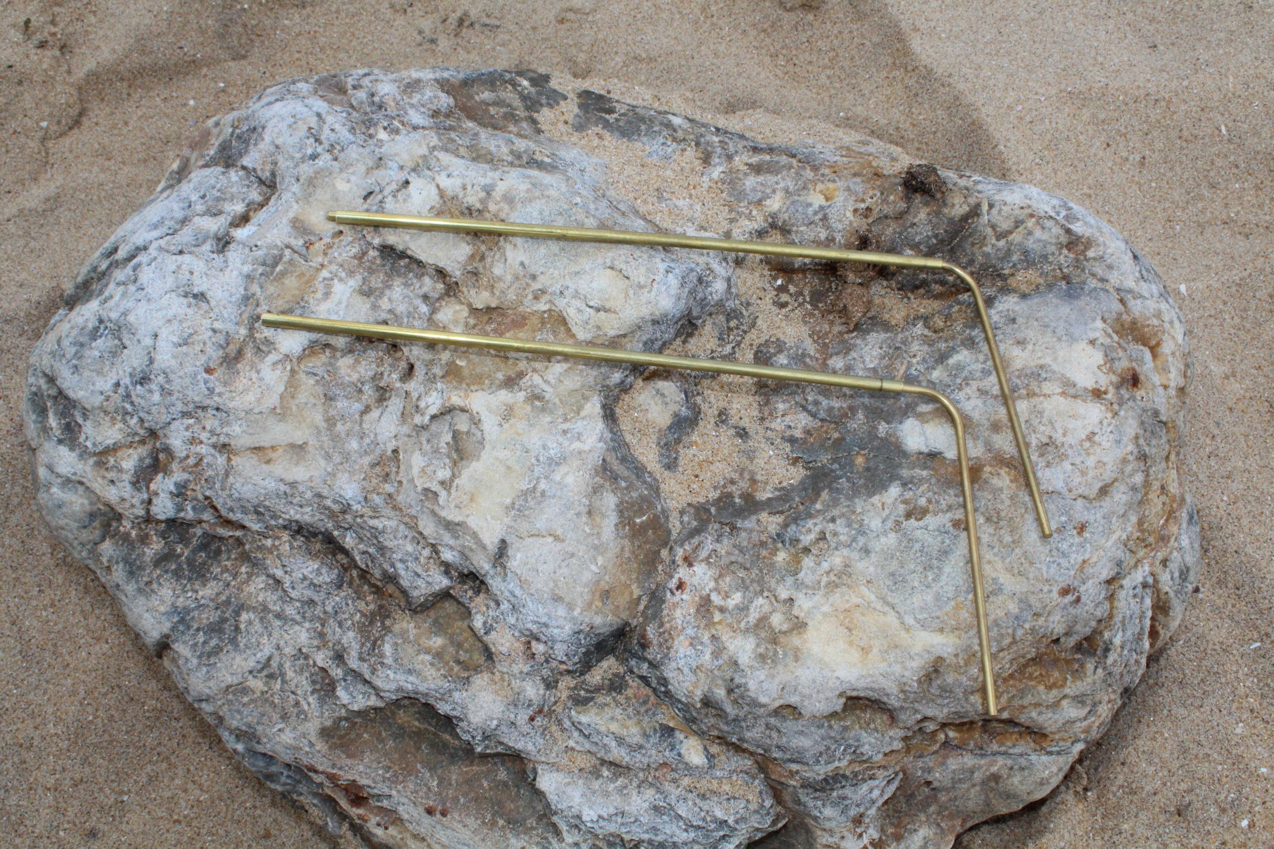 Baguettes de sourcier en bronze télescopiques